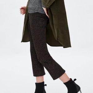 ☁️ nwt!!✨ zara mini flare leopard print pants
